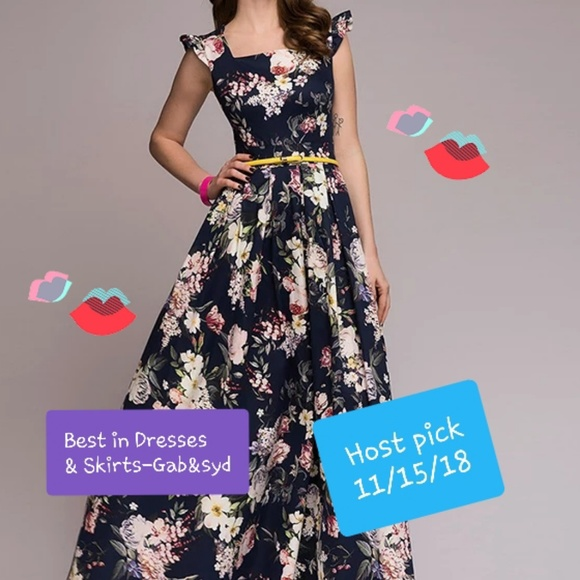 cab24040cf8 ❤NEW❤ Navy blue floral maxi dress